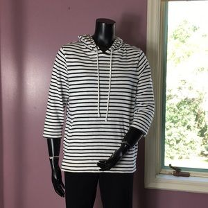 Banana Republic Striped Pullover with Hood